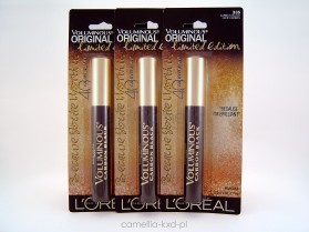 LOREAL VOLUMINOUS LIMITED 5xFL, tusz czarny CARBON